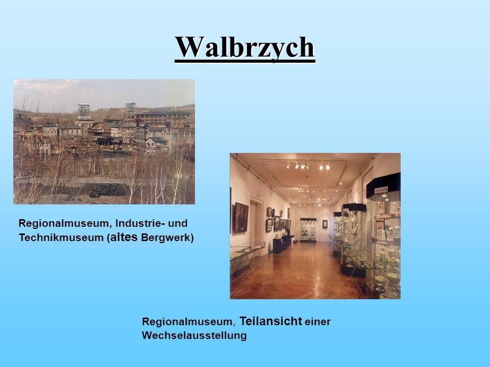 Walbrzych Regionalmuseum, Industrie- und Technikmuseum ( altes Bergwerk) Regionalmuseum, Teilansicht einer Wechselausstellung