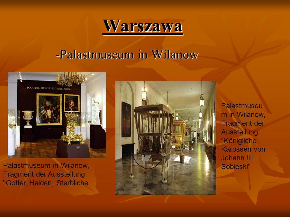 Warszawa -Palastmuseum in Wilanow -Palastmuseum in Wilanow Palastmuseum in Wilanow, Fragment der Ausstellung