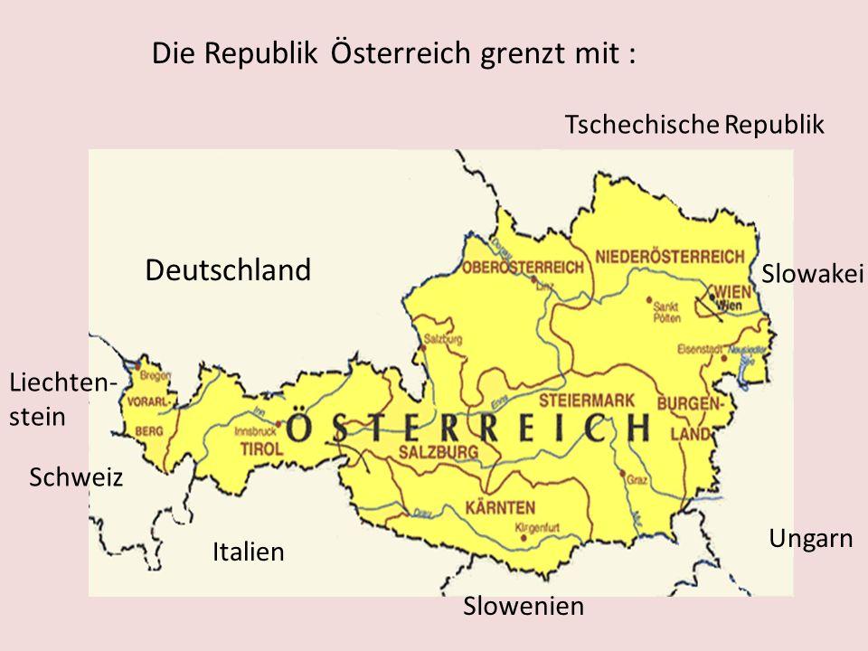 Österreich das ist Land im Herzen Europas. Die Hauptstadt: Wien