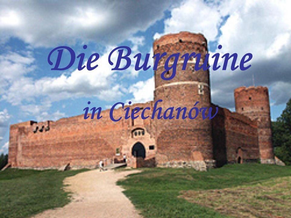 Die Burgruine in Ciechanów