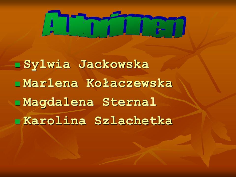 Sylwia Jackowska Marlena Kołaczewska Magdalena Sternal Karolina Szlachetka