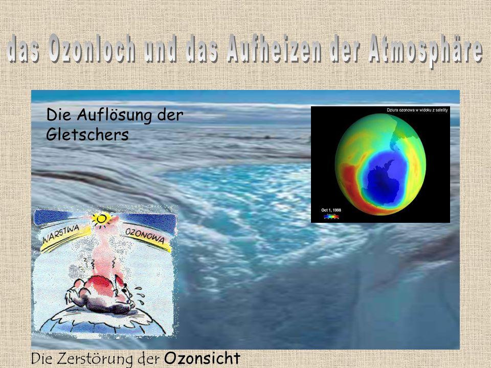 Die Zerstörung der Ozonsicht Die Auflösung der Gletschers