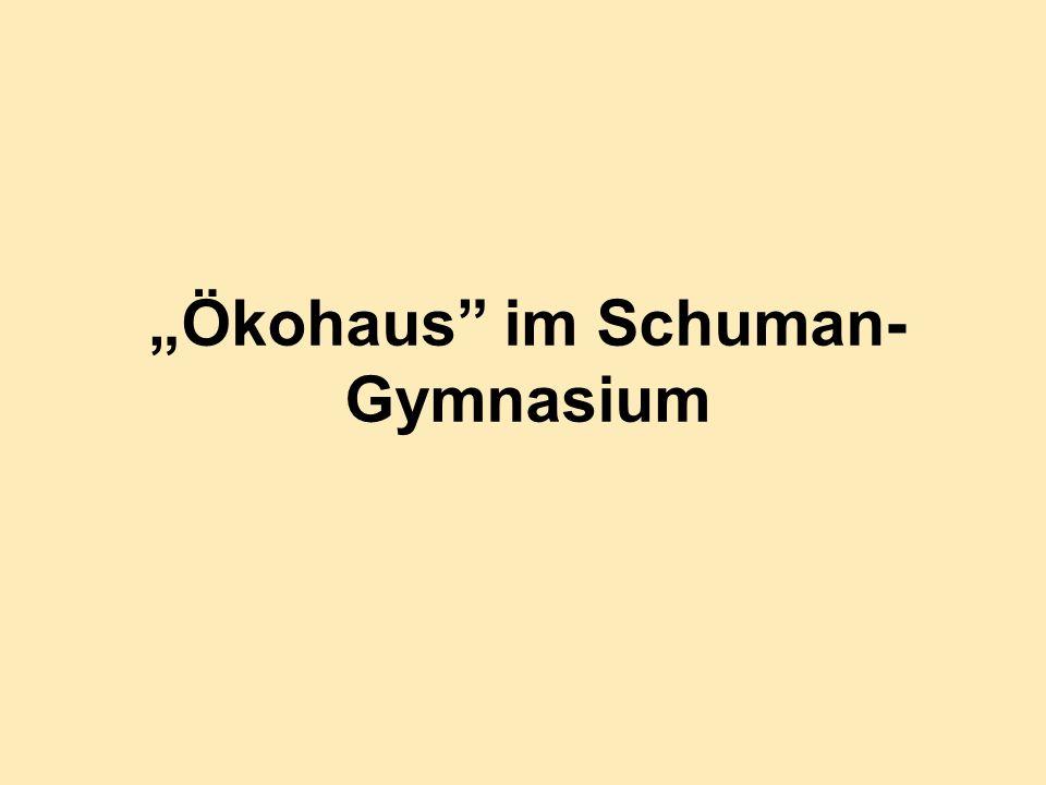 Ökohaus im Schuman- Gymnasium