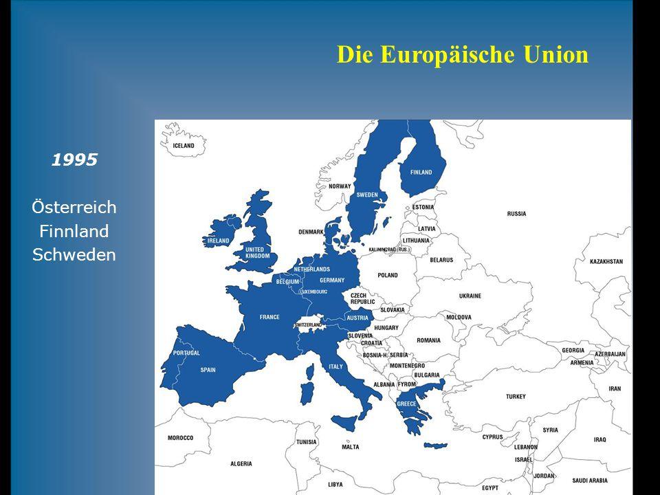 Die Europäische Union 1995 Österreich Finnland Schweden
