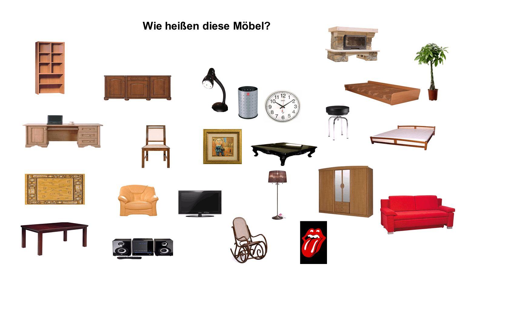 Wie heißen diese Möbel?