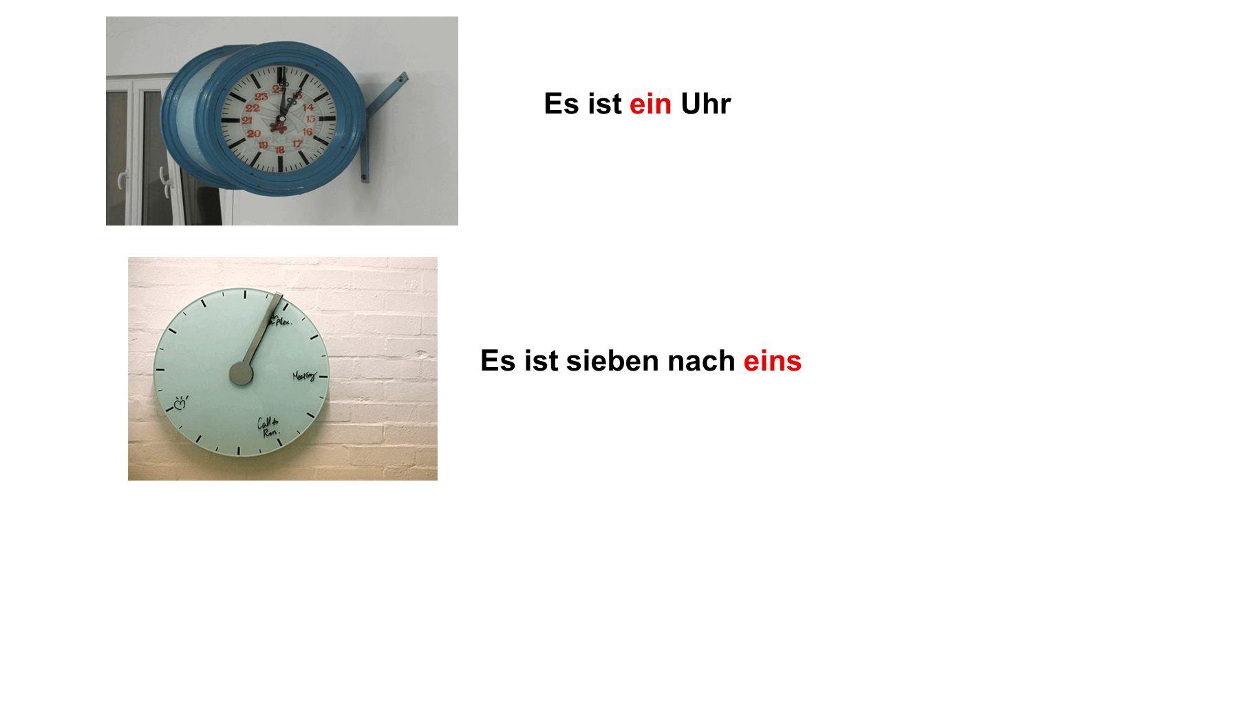 halb acht Wie spät ist es?
