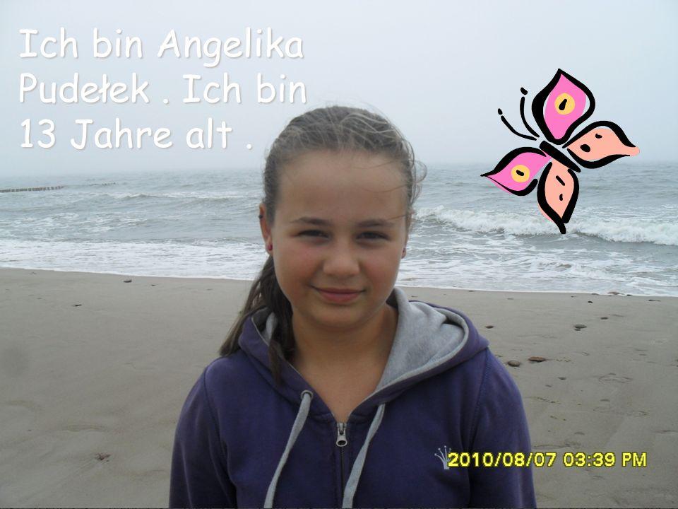 Ich bin Angelika Pudełek. Ich bin 13 Jahre alt.