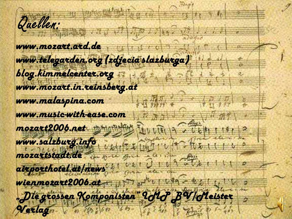 Prägung neuer Talente Versuch einer Symbiose zwischen historischem Aufführungsstil und zeitgemäßem Interpretationsstil Zahlreiche Konzerte zur Nahebringung von Mozarts Genie Aufweisung der interessanten Vergangenheit von Mozart Aufzeichnung seines Einflusses auf die späteren Generationen von Musikern Verfolgung der Entwicklung von Musik seit dem XVIII Jhdrt Für die Jugend klassische Musik zugänglicher und attraktiver zu machen Hauptziele, die im Mozartjahr realisiert werden: