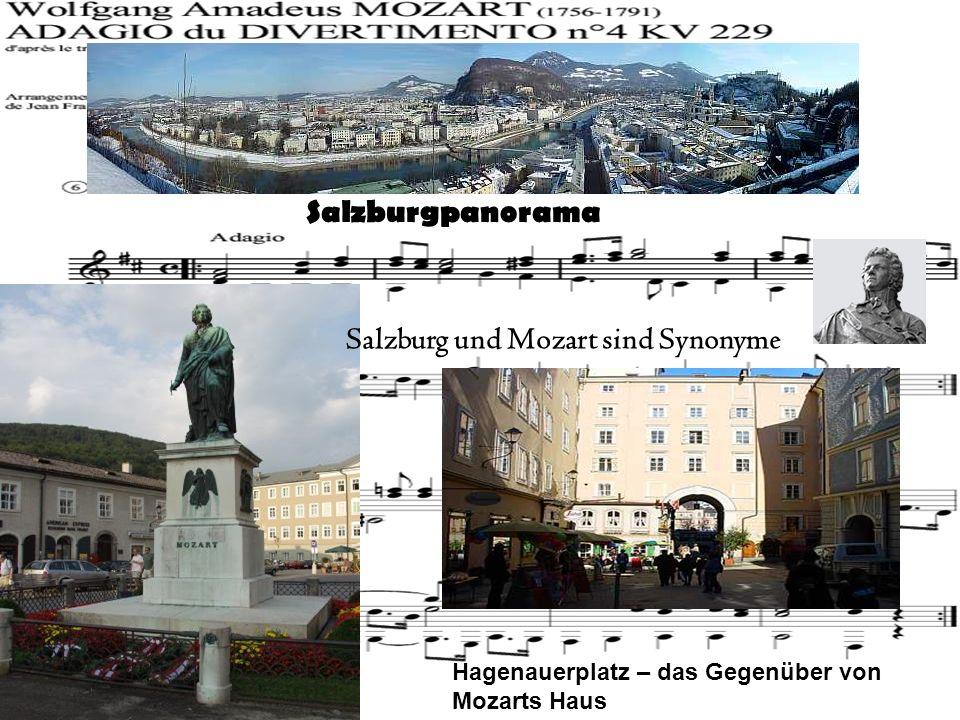 Salzburgpanorama Salzburg und Mozart sind Synonyme Hagenauerplatz – das Gegenüber von Mozarts Haus