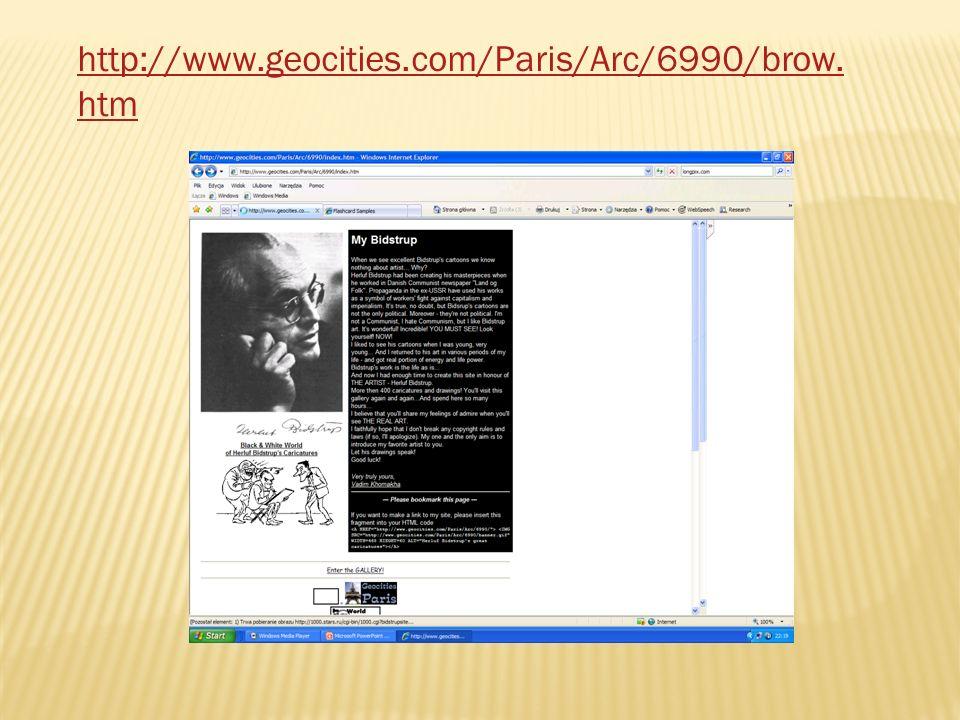http://www.geocities.com/Paris/Arc/6990/brow. htm