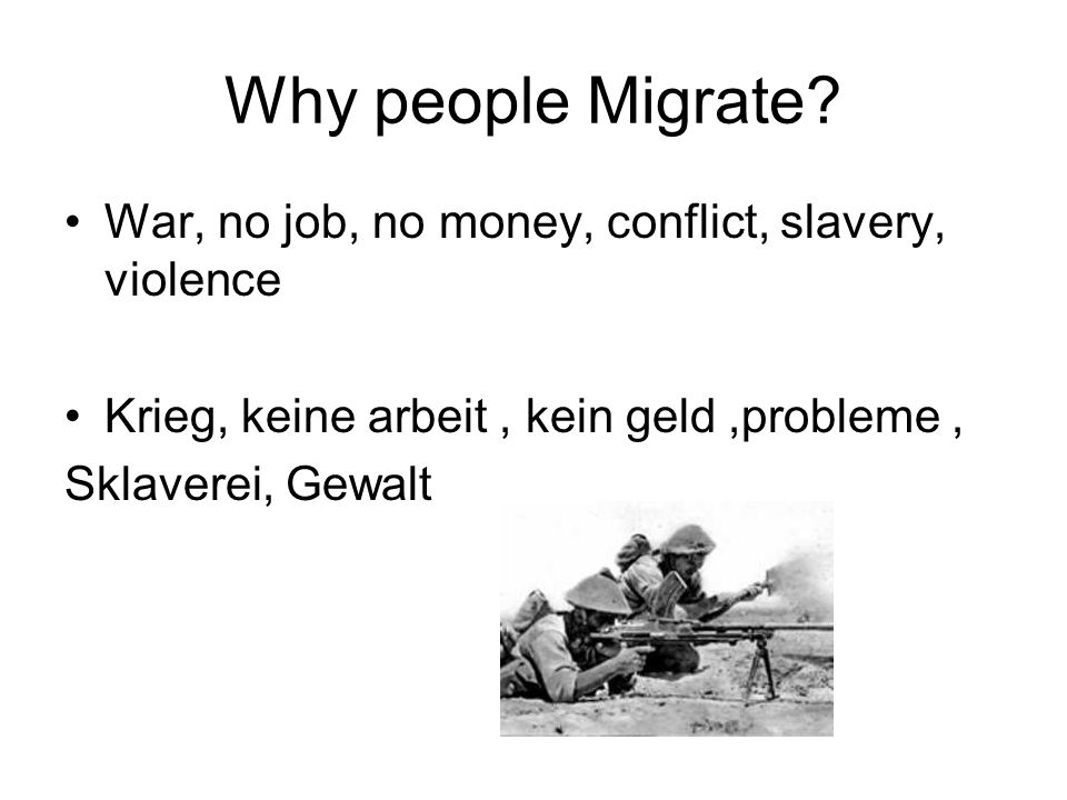 Why people Migrate.