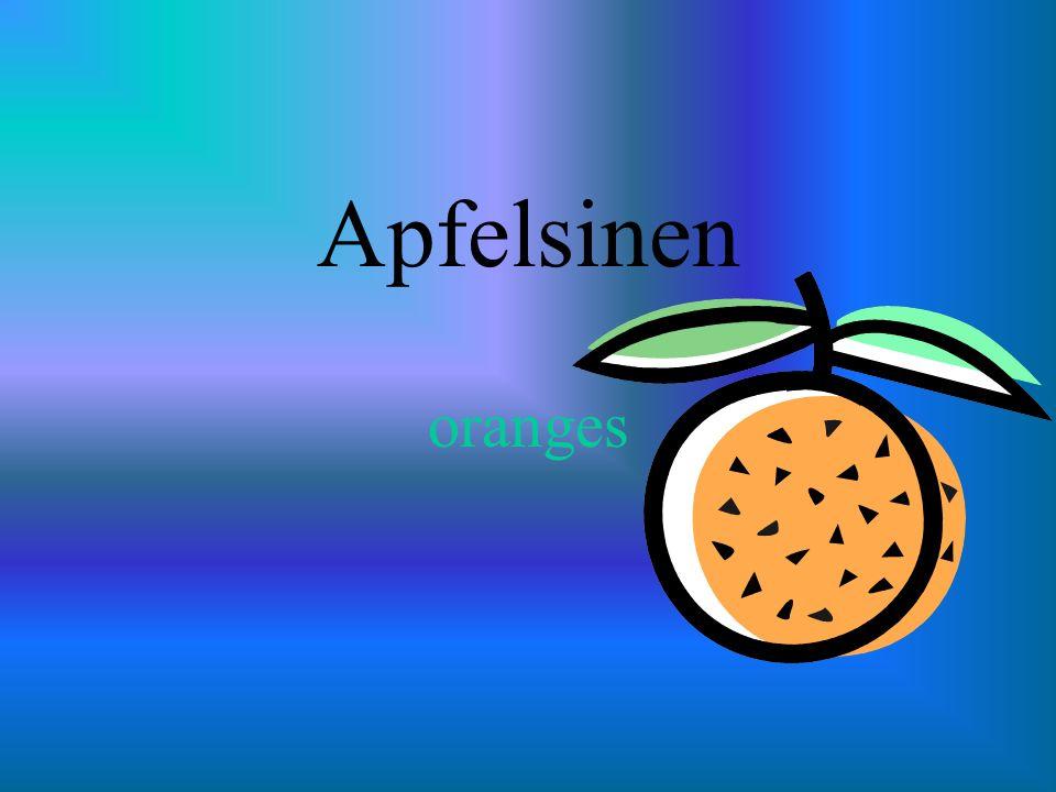 Apfelsinen oranges