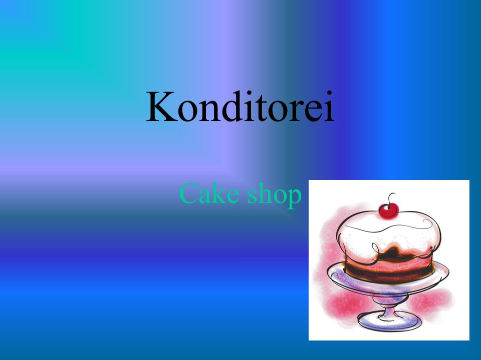 Konditorei Cake shop