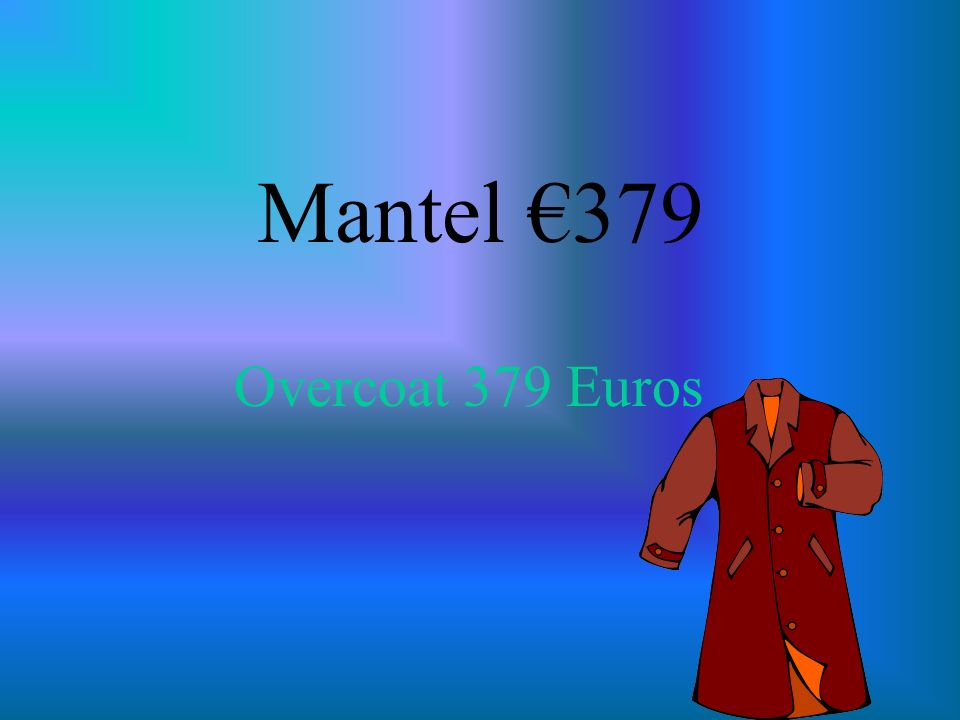 Mantel 379 Overcoat 379 Euros