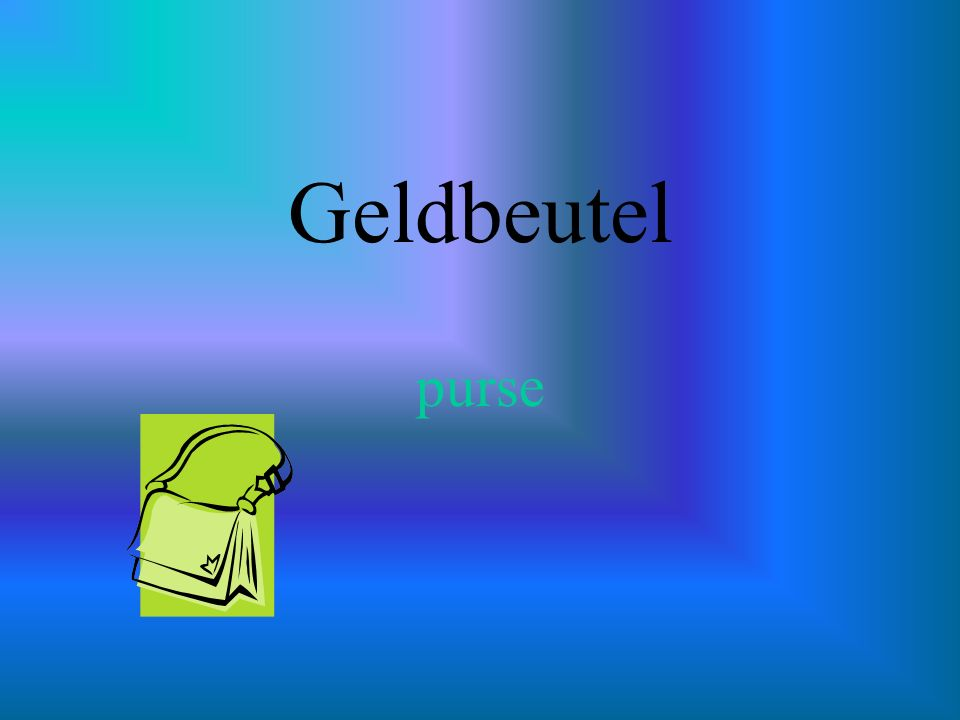 Geldbeutel purse