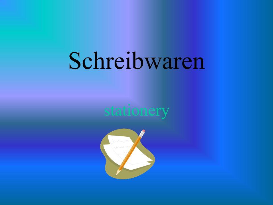 Schreibwaren stationery