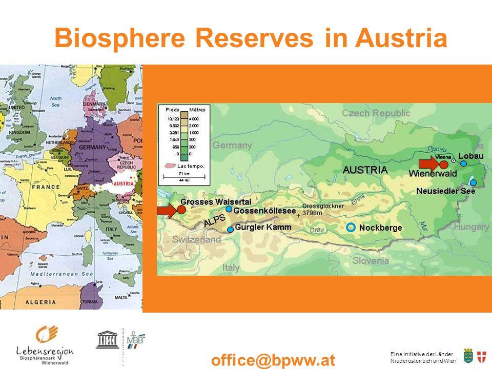Eine Initiative der Länder Niederösterreich und Wien office@bpww.at www.bpww.at Biosphere Reserves in Austria Nockberge