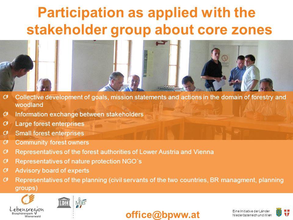 Eine Initiative der Länder Niederösterreich und Wien office@bpww.at www.bpww.at Collective development of goals, mission statements and actions in the