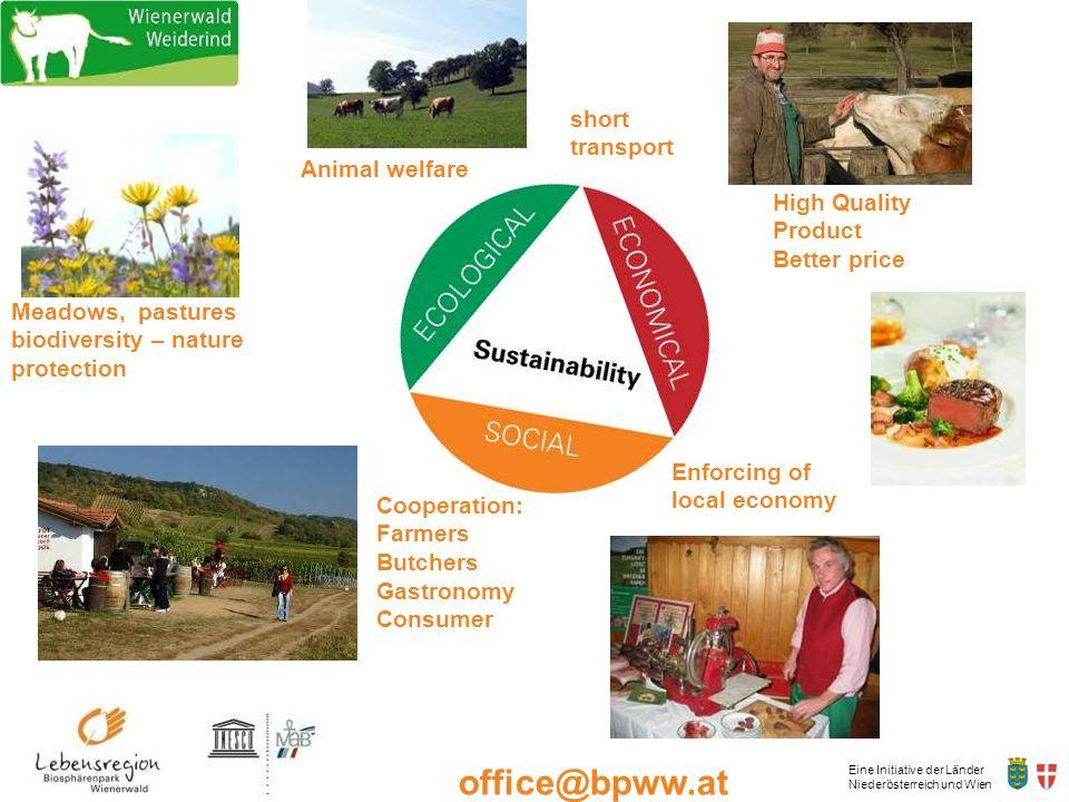 Eine Initiative der Länder Niederösterreich und Wien office@bpww.at www.bpww.at Meadows, pastures biodiversity – nature protection High Quality Produc