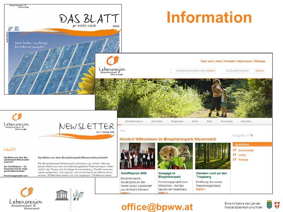 Eine Initiative der Länder Niederösterreich und Wien office@bpww.at www.bpww.at Information
