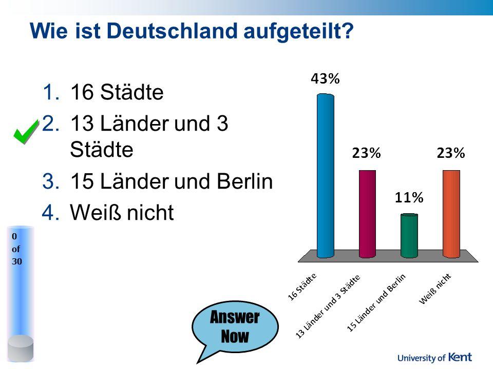 Wie ist Deutschland aufgeteilt.