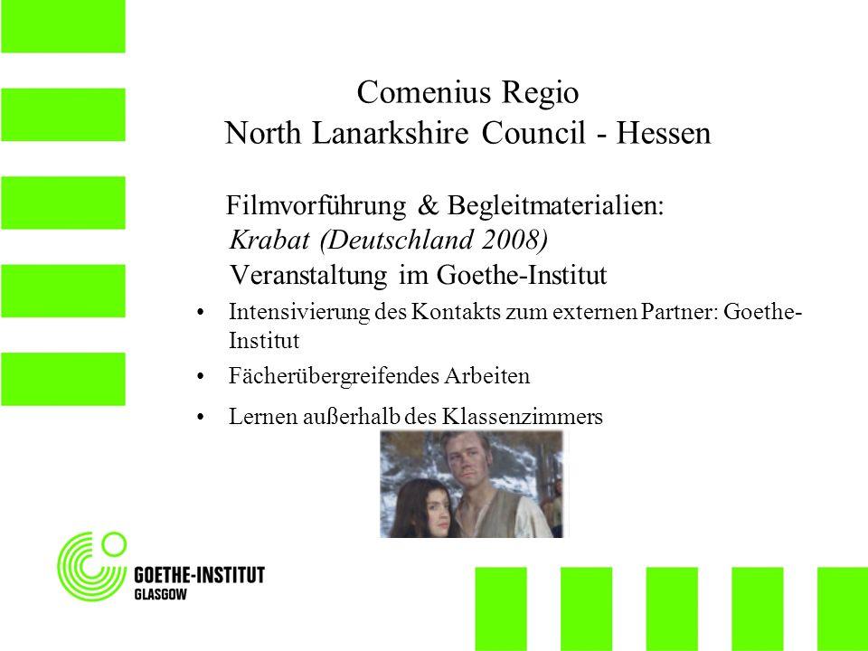 Filmvorführung & Begleitmaterialien: Krabat (Deutschland 2008) Veranstaltung im Goethe-Institut Intensivierung des Kontakts zum externen Partner: Goet