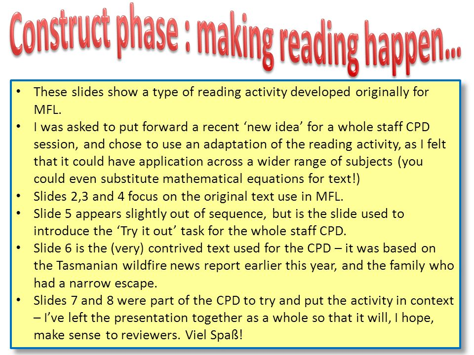 Because pupils are resistant to reading and engaging properly with text when asked…..