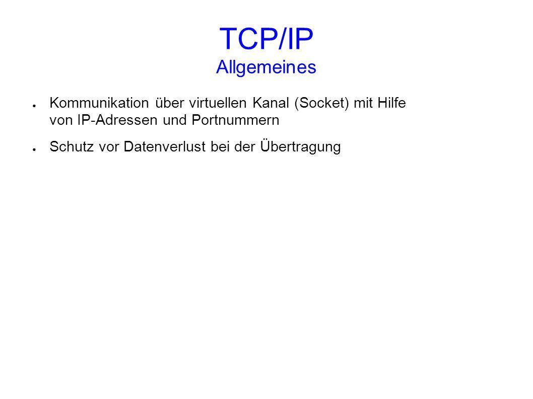 TCP/IP Referenzmodell