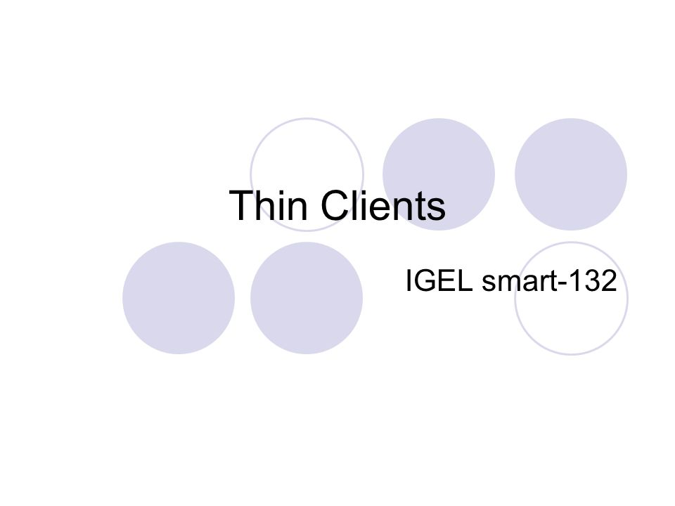 Thin Clients IGEL smart-132