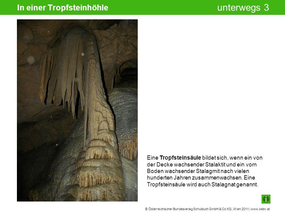 © Österreichischer Bundesverlag Schulbuch GmbH & Co KG, Wien 2011 | www.oebv.at unterwegs 3 In einer Tropfsteinhöhle Eine Tropfsteinsäule bildet sich,