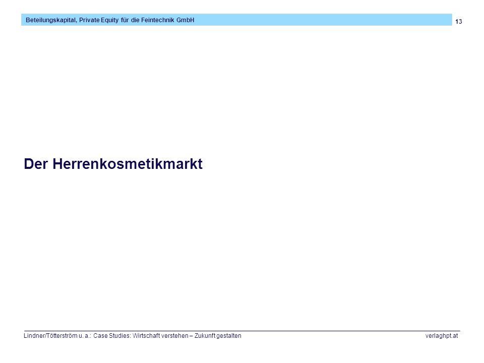 13 Beteilungskapital, Private Equity für die Feintechnik GmbH Lindner/Tötterström u. a.: Case Studies: Wirtschaft verstehen – Zukunft gestalten verlag
