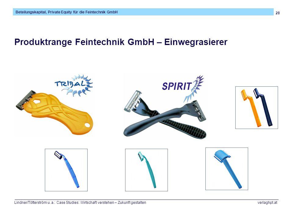 28 Beteilungskapital, Private Equity für die Feintechnik GmbH Lindner/Tötterström u.