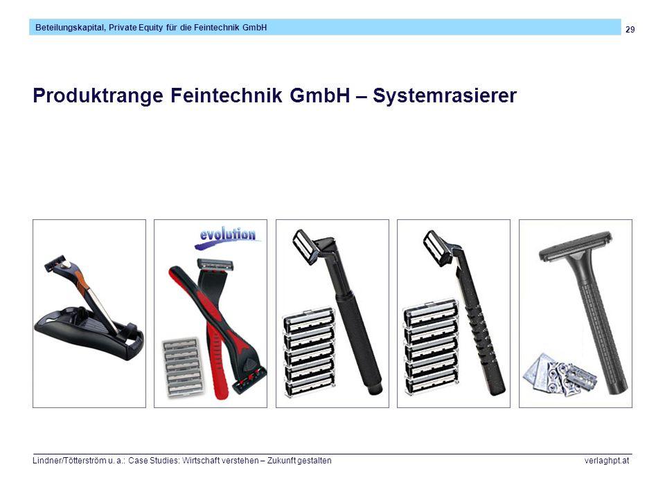 29 Beteilungskapital, Private Equity für die Feintechnik GmbH Lindner/Tötterström u.
