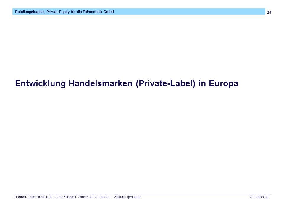 36 Beteilungskapital, Private Equity für die Feintechnik GmbH Lindner/Tötterström u. a.: Case Studies: Wirtschaft verstehen – Zukunft gestalten verlag