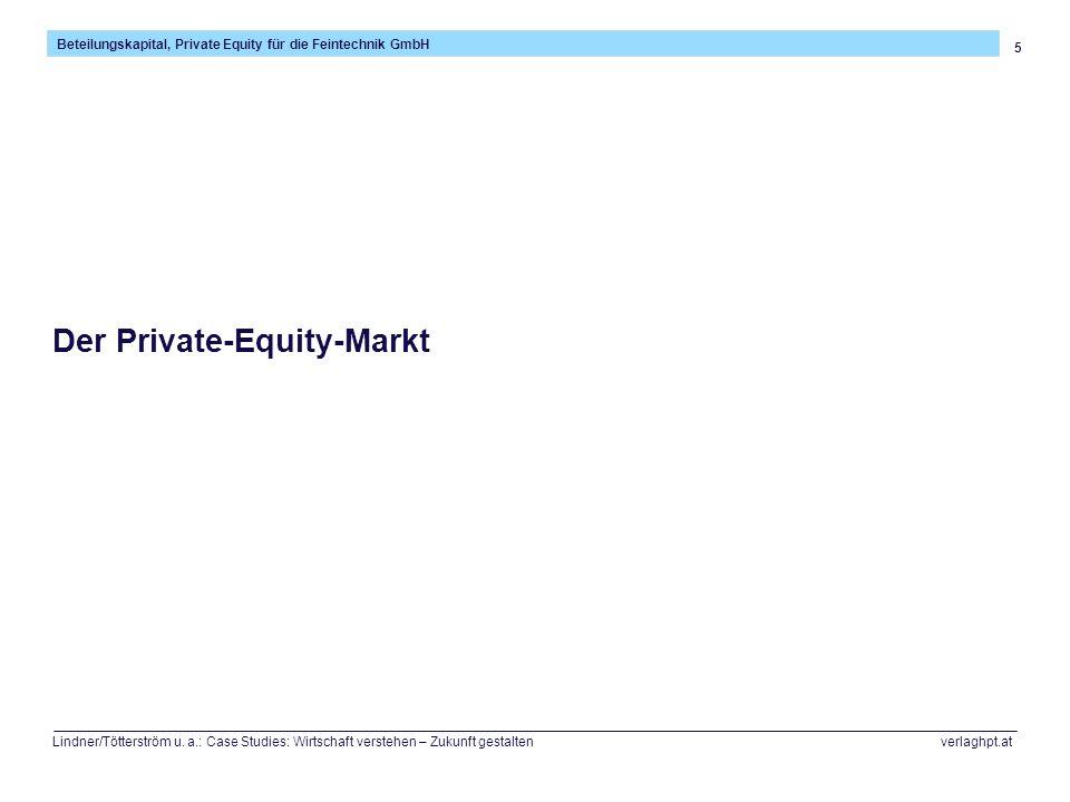 26 Beteilungskapital, Private Equity für die Feintechnik GmbH Lindner/Tötterström u.