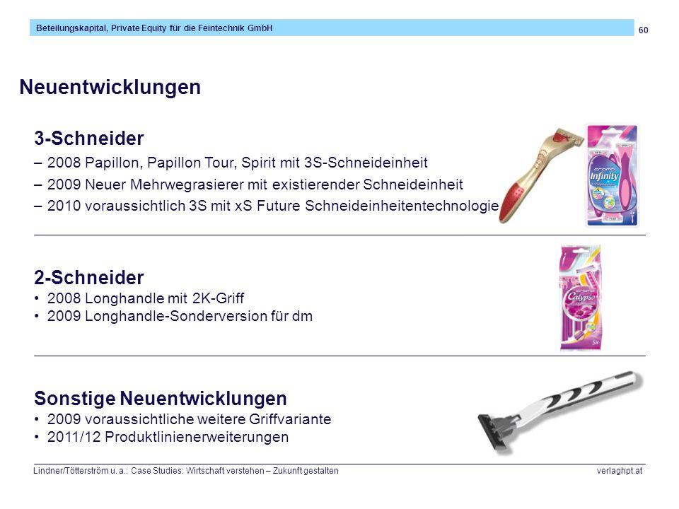 60 Beteilungskapital, Private Equity für die Feintechnik GmbH Lindner/Tötterström u. a.: Case Studies: Wirtschaft verstehen – Zukunft gestalten verlag