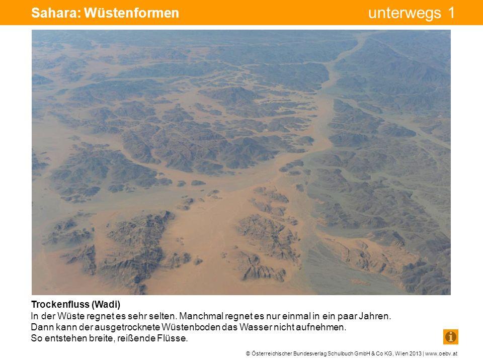 © Österreichischer Bundesverlag Schulbuch GmbH & Co KG, Wien 2013 | www.oebv.at unterwegs 1 Sahara: Wüstenformen Trockenfluss (Wadi) In der Wüste regn