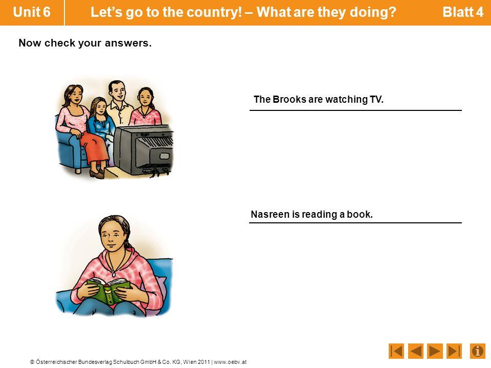 © Österreichischer Bundesverlag Schulbuch GmbH & Co. KG, Wien 2011 | www.oebv.at Unit 6 Lets go to the country! – What are they doing? Blatt 4 Nasreen