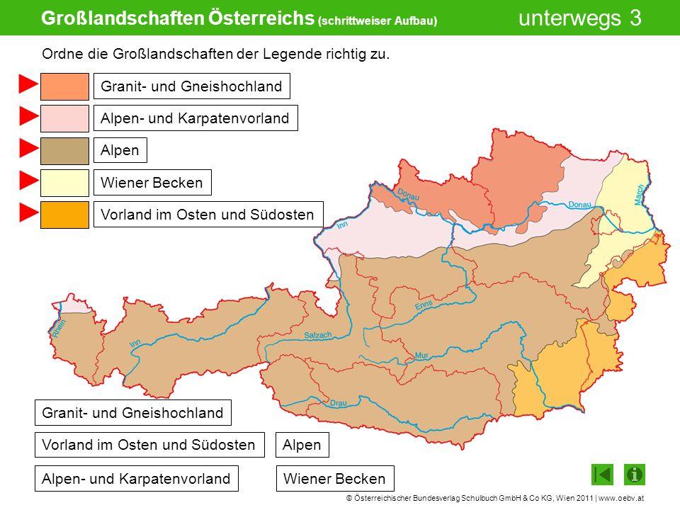 © Österreichischer Bundesverlag Schulbuch GmbH & Co KG, Wien 2011 | www.oebv.at unterwegs 3 Großlandschaften Österreichs (schrittweiser Aufbau) Alpen-