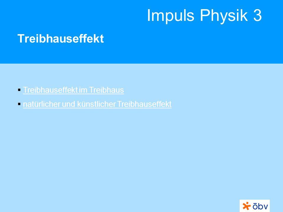 Impuls Physik 3 Treibhauseffekt Treibhauseffekt im Treibhaus natürlicher und künstlicher Treibhauseffekt