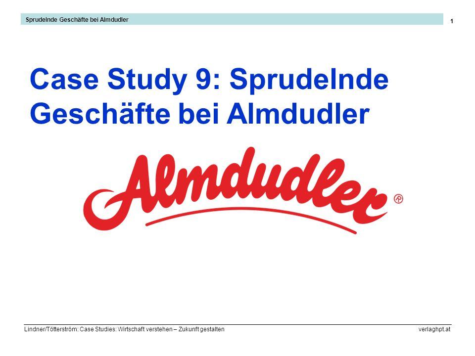 Lindner/Tötterström: Case Studies: Wirtschaft verstehen – Zukunft gestalten verlaghpt.at 1 Case Study 9: Sprudelnde Geschäfte bei Almdudler Sprudelnde