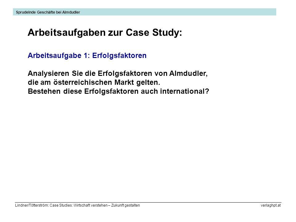 Lindner/Tötterström: Case Studies: Wirtschaft verstehen – Zukunft gestalten verlaghpt.at Arbeitsaufgabe 1: Erfolgsfaktoren Analysieren Sie die Erfolgs
