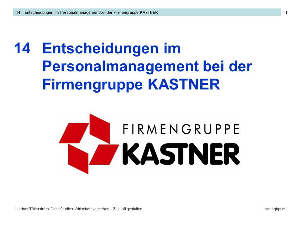 Lindner/Tötterström: Case Studies: Wirtschaft verstehen – Zukunft gestalten verlaghpt.at 1 Entscheidungen im Personalmanagement bei der Firmengruppe K