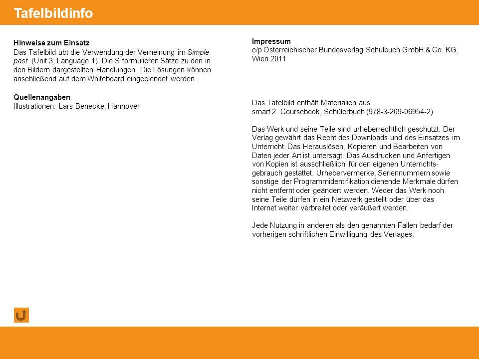 © Österreichischer Bundesverlag Schulbuch GmbH & Co. KG, Wien 2011 | www.oebv.at Hinweise zum Einsatz Das Tafelbild übt die Verwendung der Verneinung