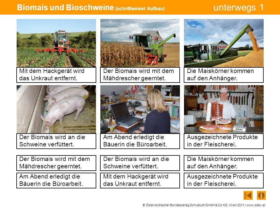 © Österreichischer Bundesverlag Schulbuch GmbH & Co KG, Wien 2011 | www.oebv.at unterwegs 1 Biomais und Bioschweine (schrittweiser Aufbau) Mit dem Hac