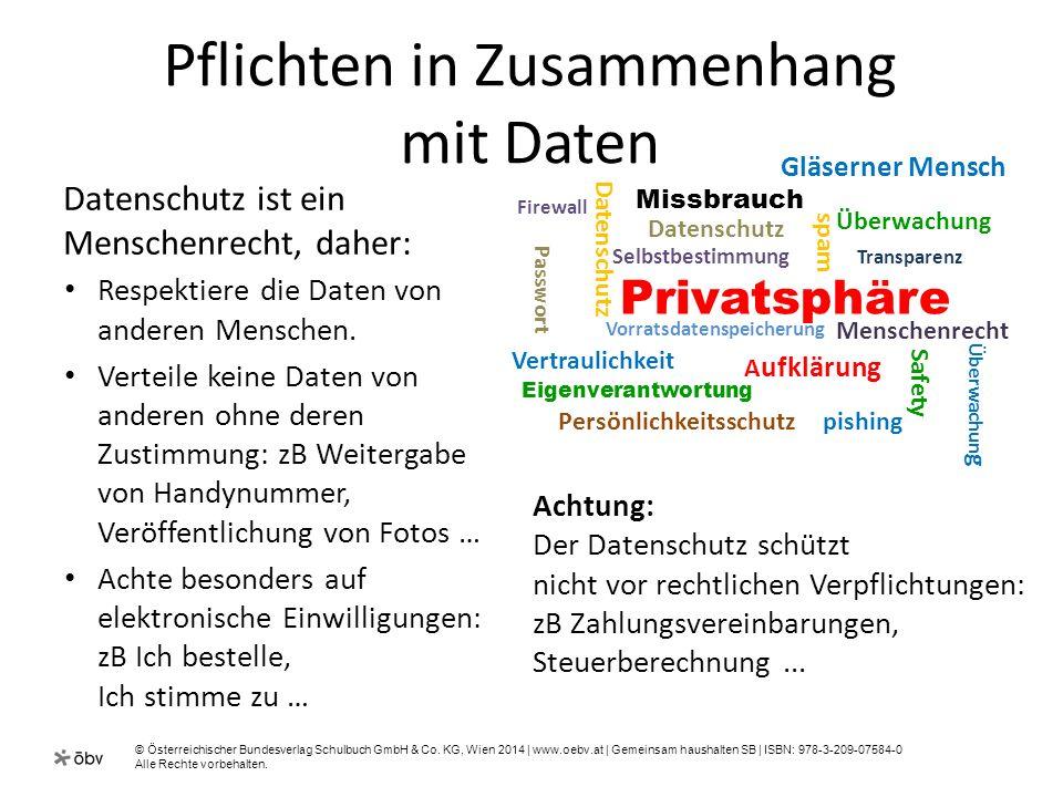 © Österreichischer Bundesverlag Schulbuch GmbH & Co. KG, Wien 2014 | www.oebv.at | Gemeinsam haushalten SB | ISBN: 978-3-209-07584-0 Alle Rechte vorbe