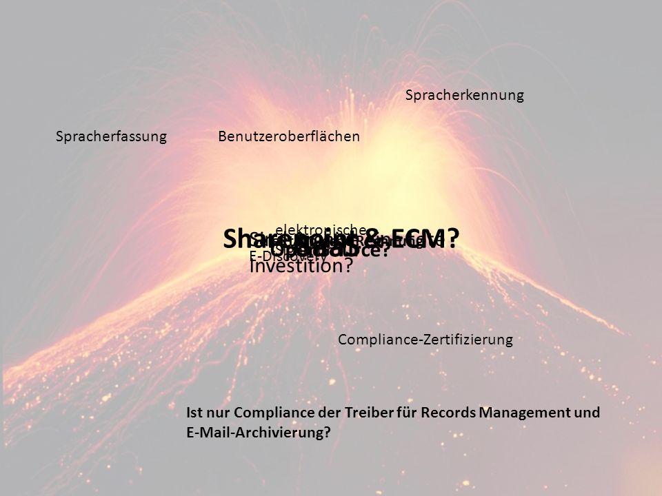 ECM TrendsPanel-Diskussion DMS EXPO 2011Moderation Dr. Ulrich Kampffmeyer 3 Sharepoint & ECM? Sind Archive eine tote Investition? Ist nur Compliance d