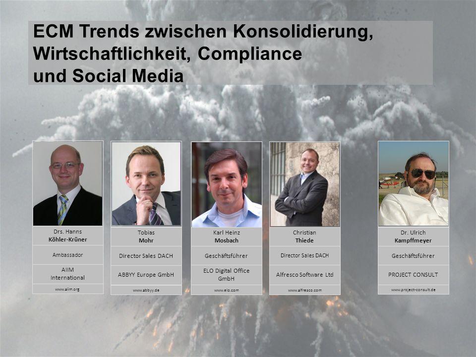 ECM TrendsPanel-Diskussion DMS EXPO 2011Moderation Dr.
