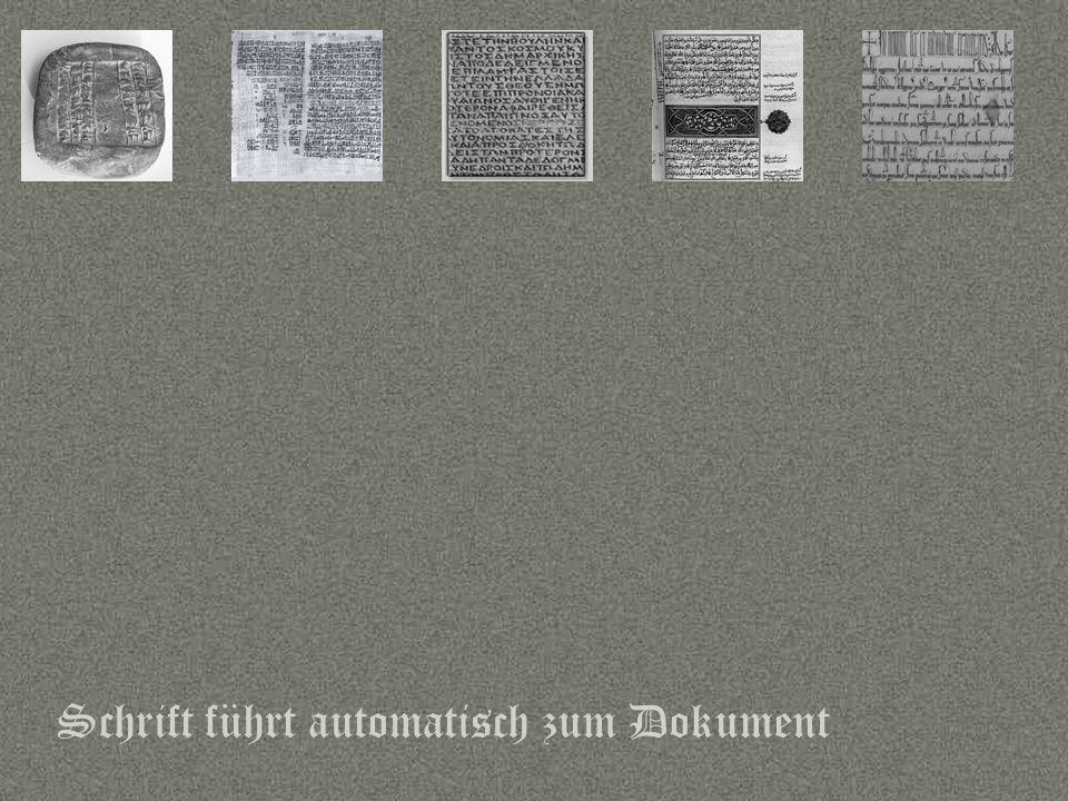 Schrift führt automatisch zum Dokument