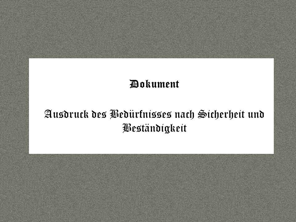 Sprache Dokument Ausdruck des Bedürfnisses nach Sicherheit und Beständigkeit
